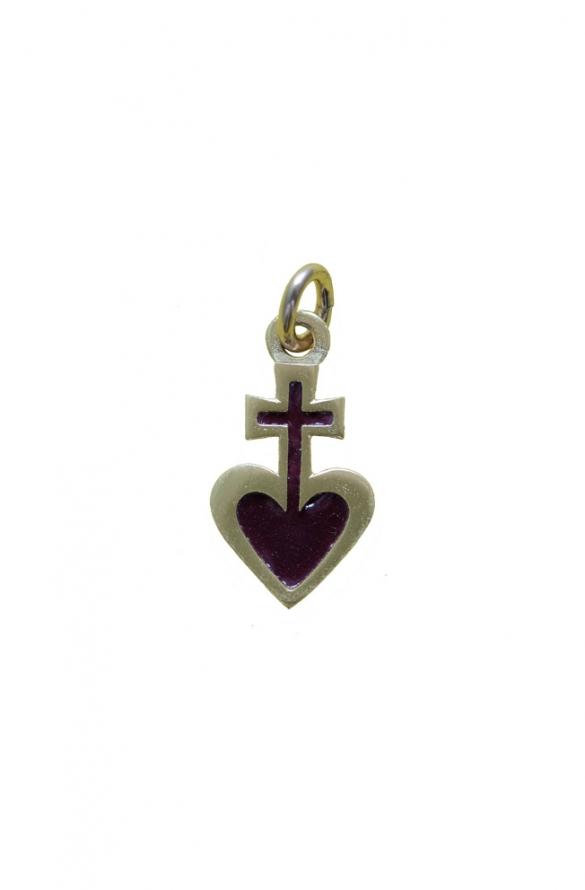 Pendentif sacré-coeur bronze