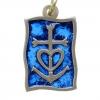Pendentif bronze bleu