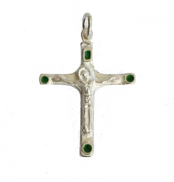 Bijou pendentif croix argent